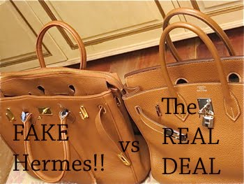 Baghags, I present to you, the real Hermes birkin vs their counterfeit  birkin.